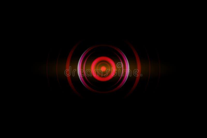 与摆动的声波的摘要深红螺旋作用,技术背景 向量例证