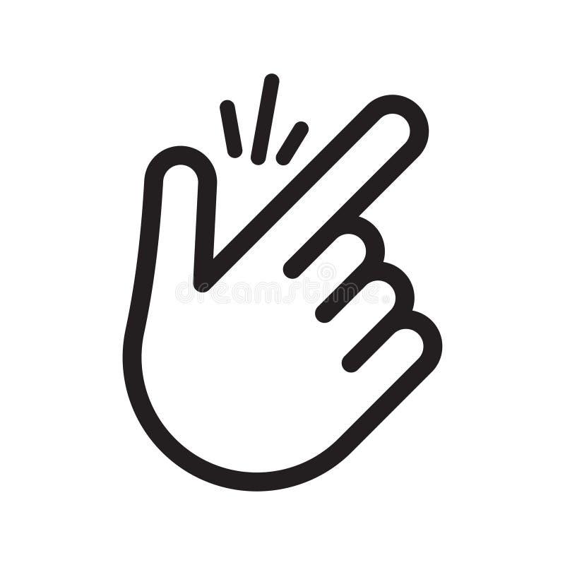 与攫取的合理的线的手指短冷期 向量例证