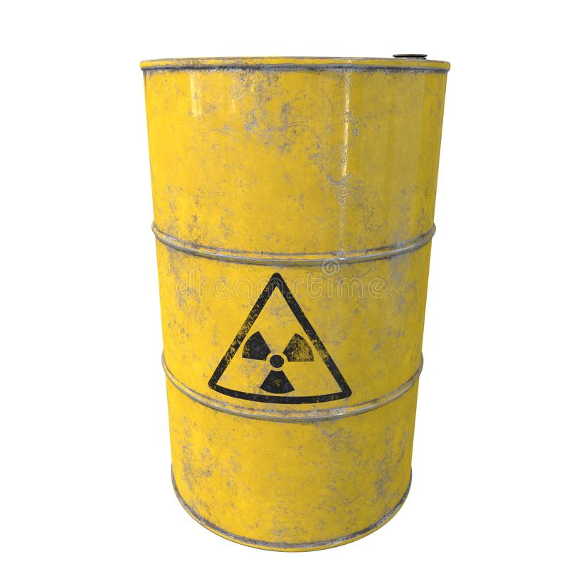 与放射性废物的桶 查出 3d回报 向量例证