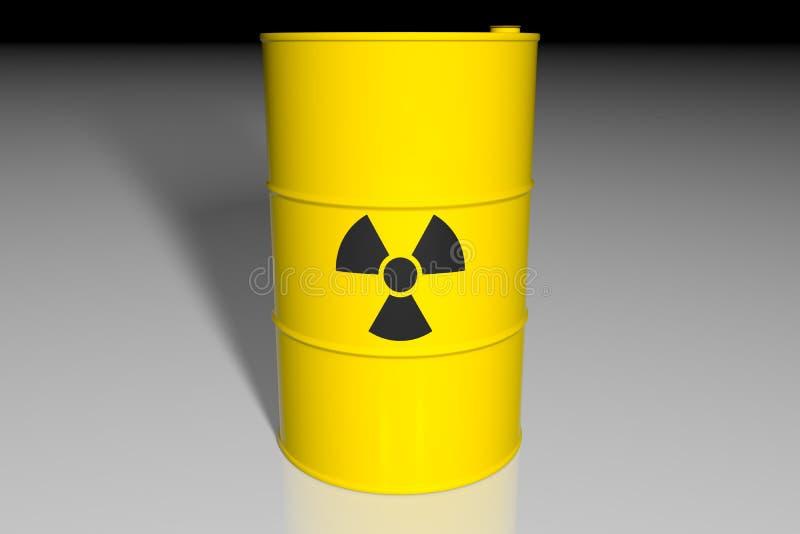 与放射性废物的桶 3d回报 皇族释放例证