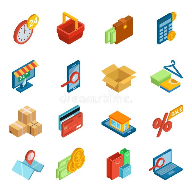 与数字式付款的网上购物象传染媒介电子商务技术在互联网商店和pos终端信用卡的 皇族释放例证