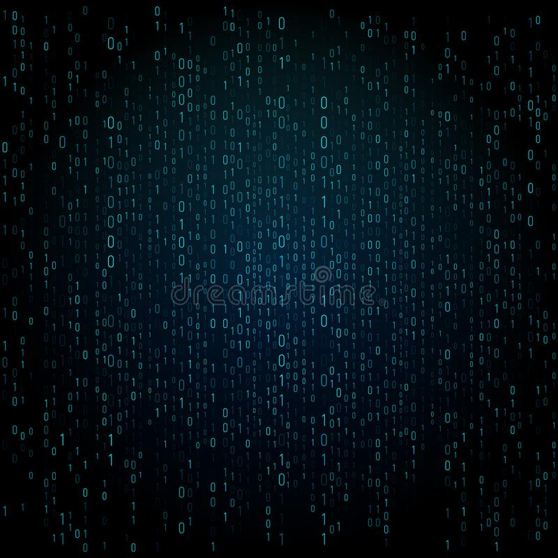 与数字的矩阵纹理 二进制编码,抽象未来派网际空间背景 数据analisys样式 皇族释放例证