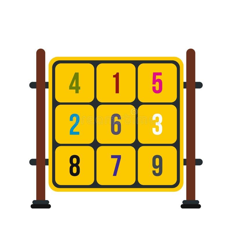 与数字的立方体在操场象 皇族释放例证