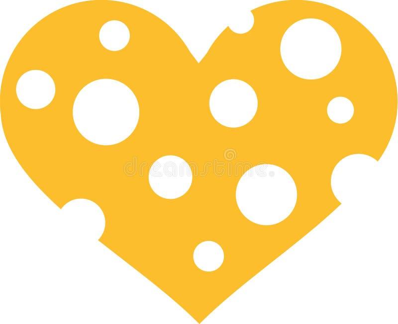 与整体的乳酪心脏 皇族释放例证