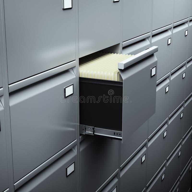 与文件的文件柜 皇族释放例证