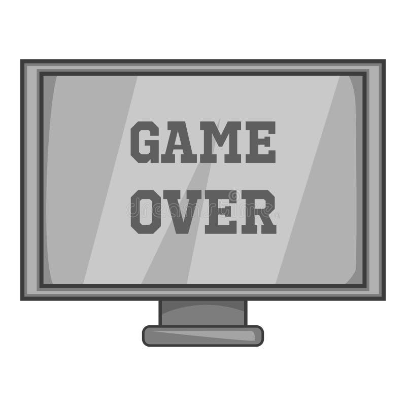 与文字游戏的显示器在象 皇族释放例证