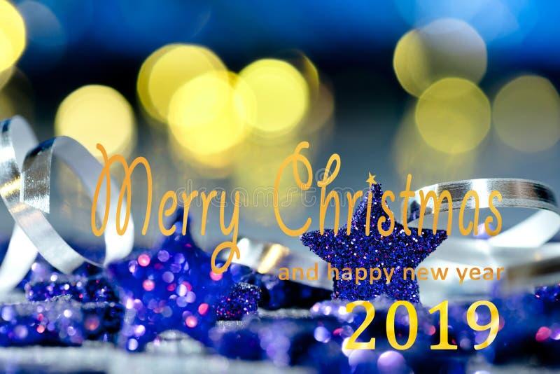 与文本圣诞快乐的圣诞节背景 免版税库存照片