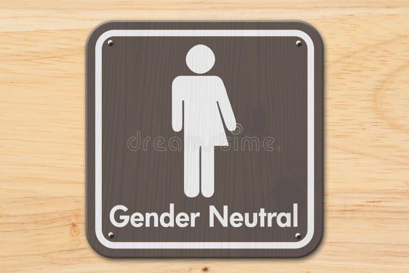 与文本性别中性的变性标志 免版税库存照片
