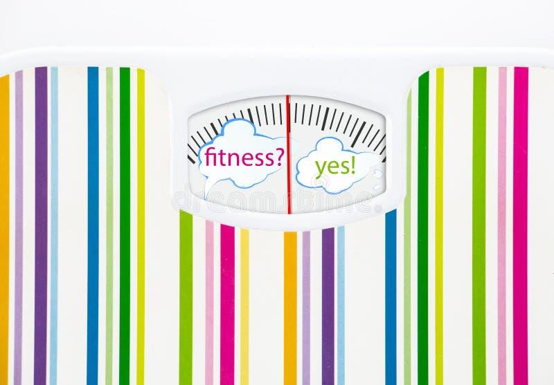 与文本泡影的体重计在拨号盘 向量例证