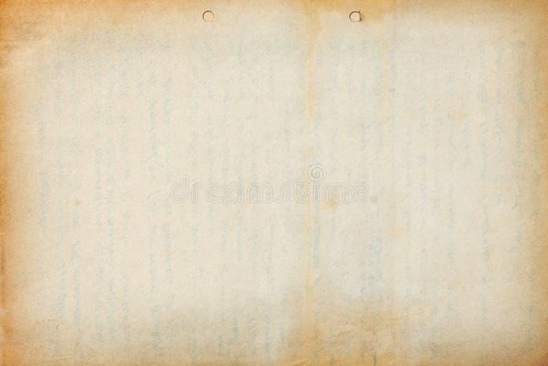 与文本版本记录的老纸板料 免版税图库摄影