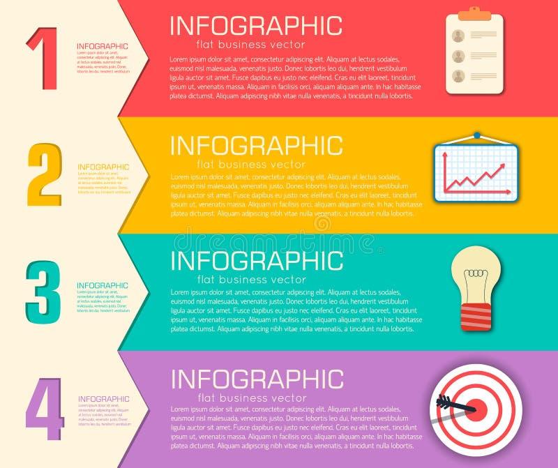 与文本的企业平的infographic模板 向量例证