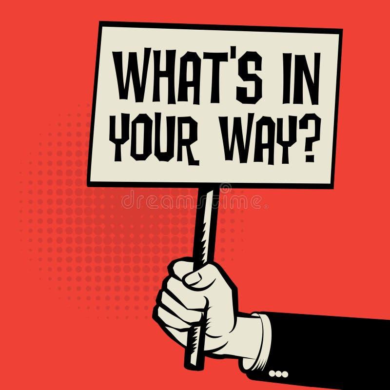 与文本的企业概念什么` s用您的方式? 皇族释放例证