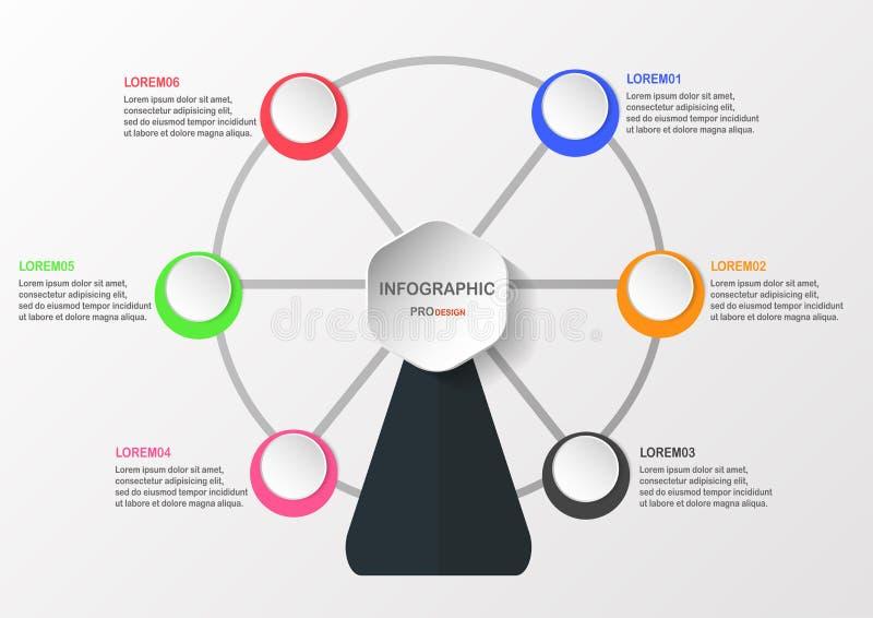 与文本空间的Infographics元素 库存例证