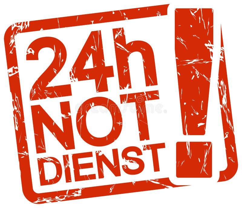 与文本24h Notdienst的红色邮票 向量例证