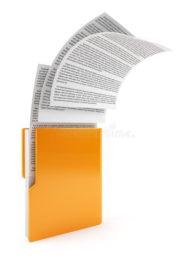 与文件的计算机文件夹 向量例证