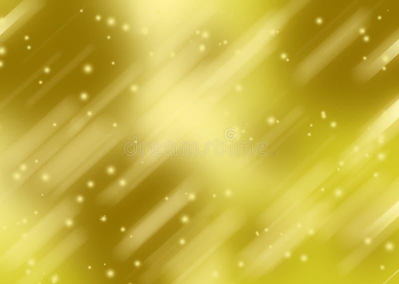 与斑点的抽象金黄背景 皇族释放例证