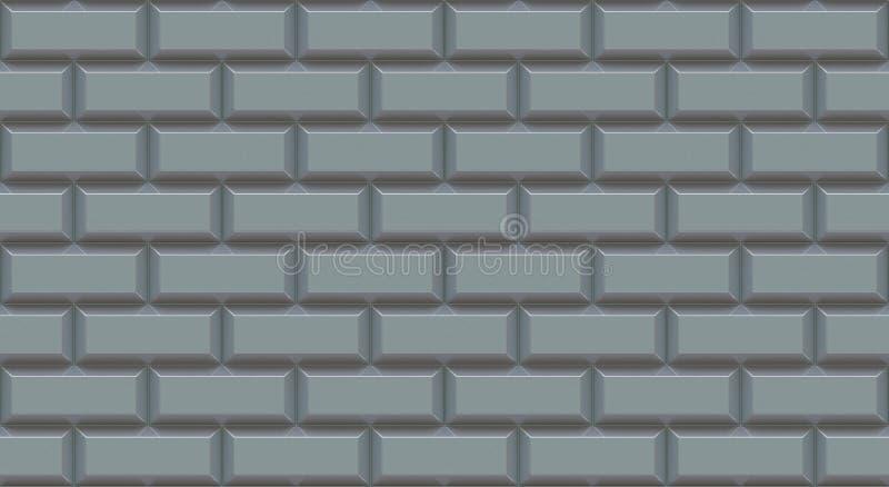 与斜切的边缘的银色砖墙长方形 空的背景 葡萄酒阻碍 室设计内部 库存照片