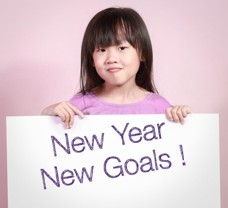 与新年新的目标的白皮书 库存图片