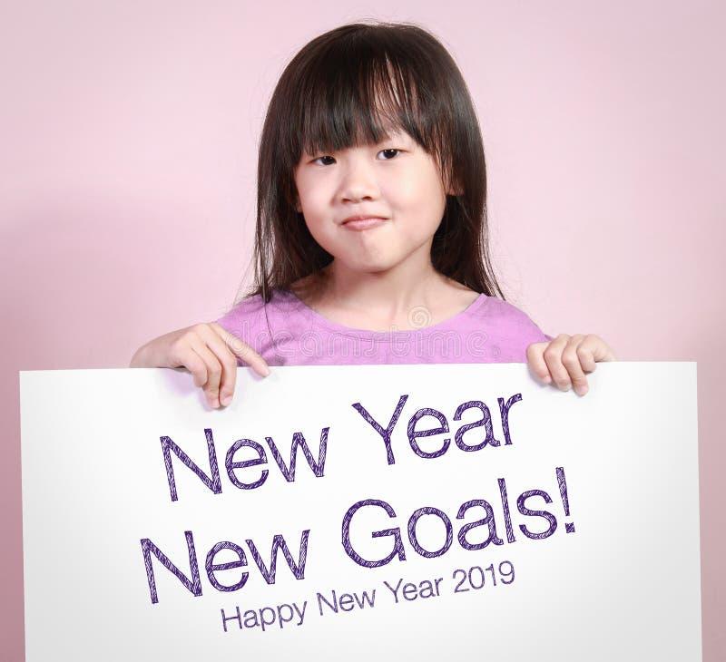 与新年新的目标的白皮书 免版税库存图片