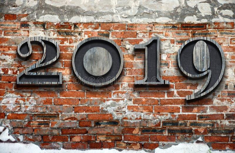 与新的时间的新年好2019年在生活中 库存照片