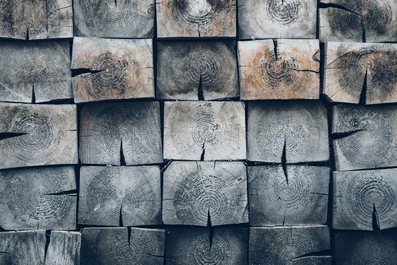 与方形的板条的样式 难看的东西灰色木背景 橡木纹理特写镜头  灰色,松木-材料,空的空间 Vinta 免版税库存图片