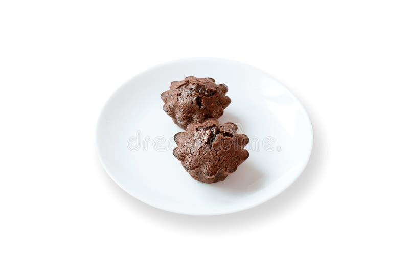 与方旦糖装填的巧克力蛋糕 库存照片