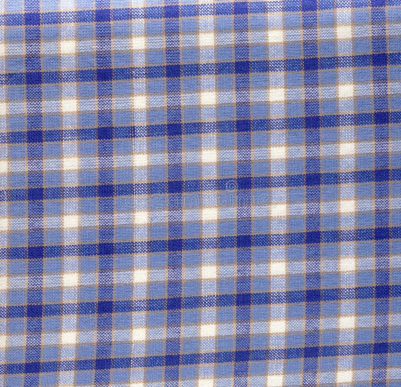 与方格的模式的织品 免版税库存图片