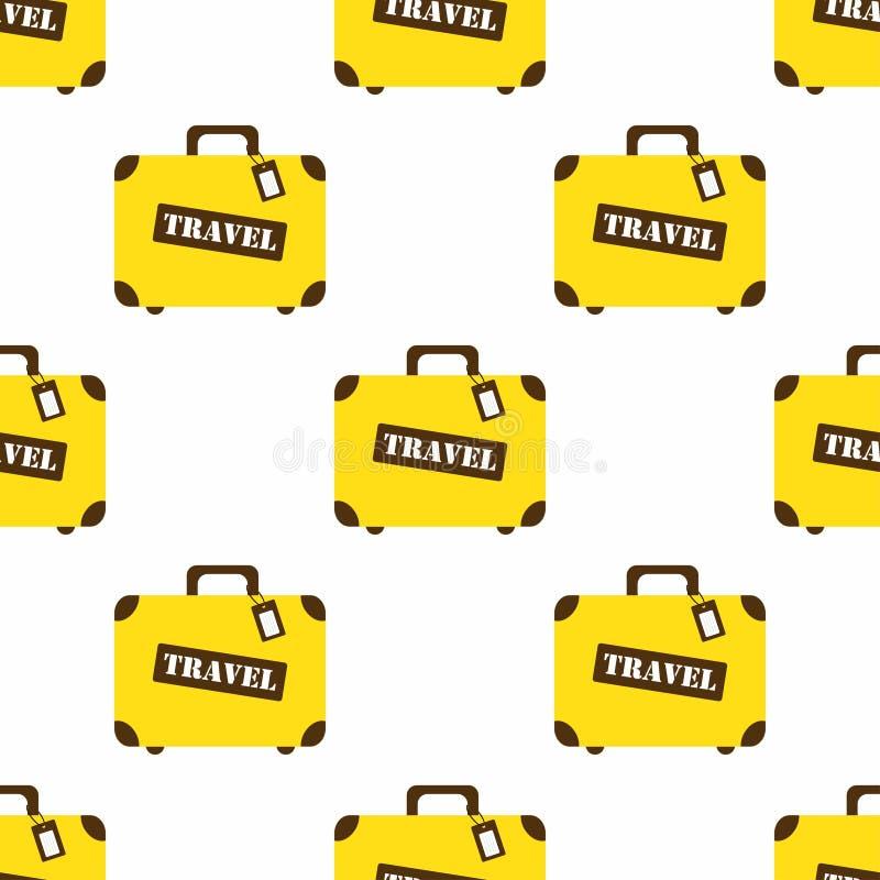 与旅行袋子的样式 向量例证