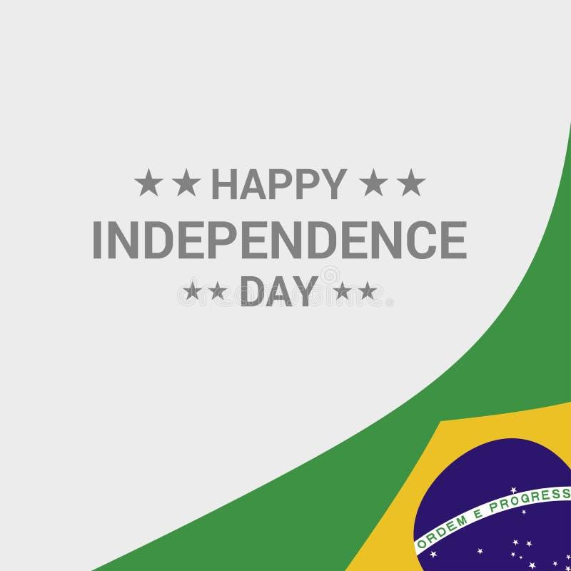与旗子传染媒介的巴西独立日印刷设计 皇族释放例证
