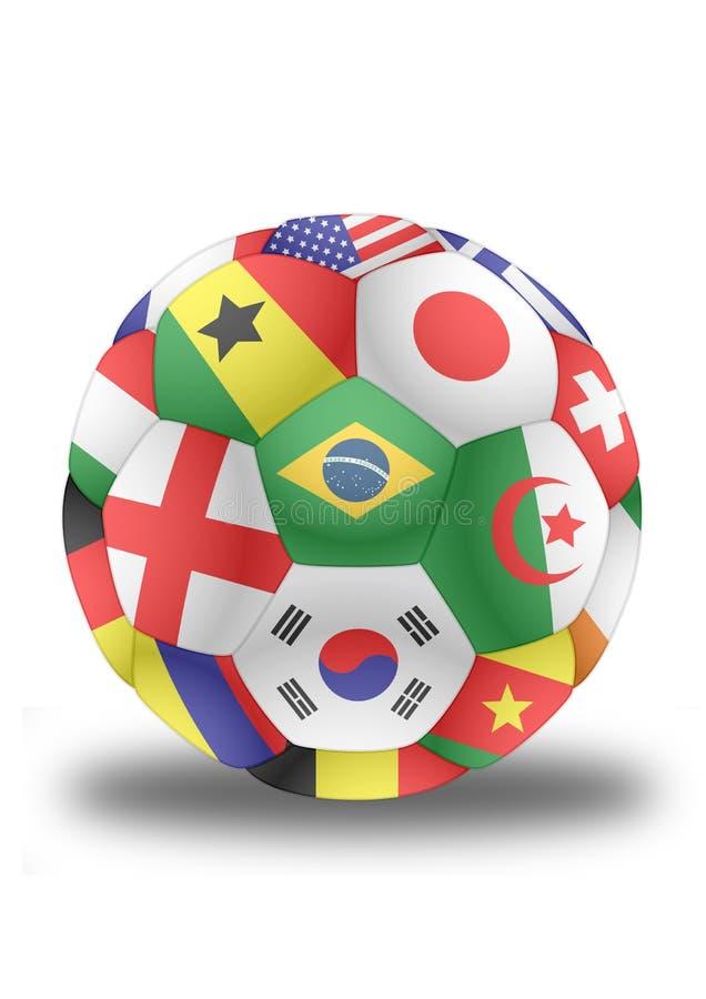 与旗子的足球从世界杯2014传染媒介 库存例证