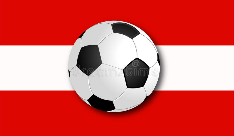 与旗子的Soccerball 免版税图库摄影