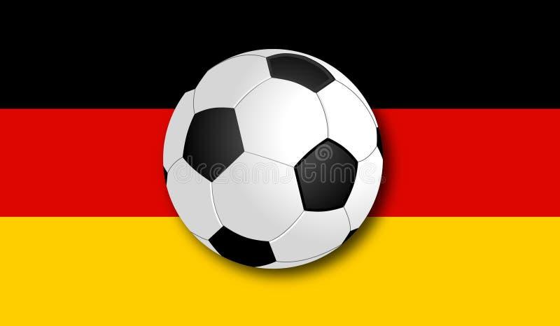 与旗子的Soccerball 免版税库存照片