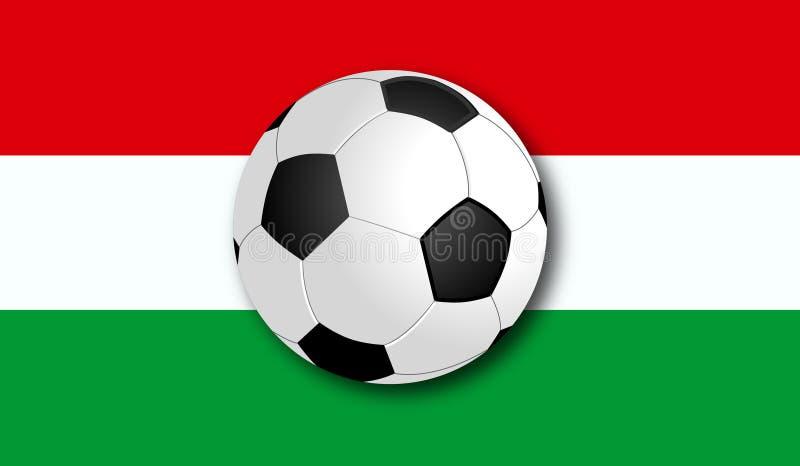 与旗子的Soccerball 图库摄影