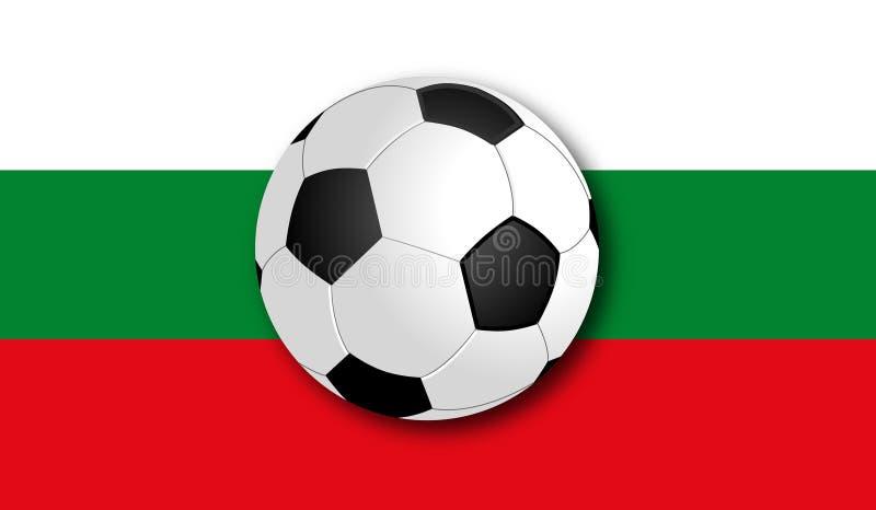 与旗子的Soccerball 库存图片