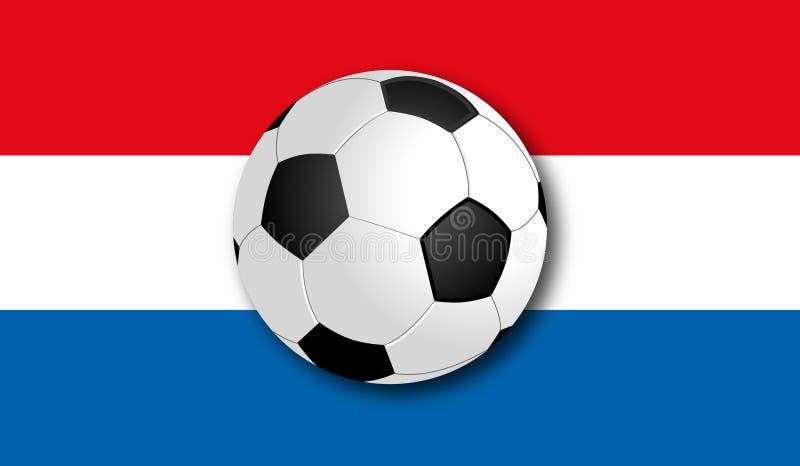 与旗子的Soccerball 库存照片