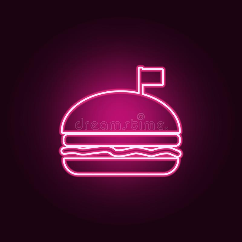 与旗子象的一个汉堡包 r r 向量例证