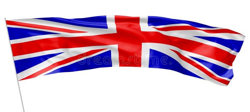 与旗杆英国长的旗子  向量例证