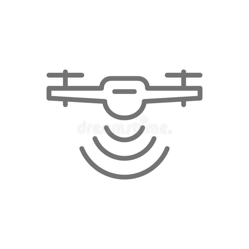 与无线电波的寄生虫,无线,雷达探测系统,送货服务用户线路象 向量例证