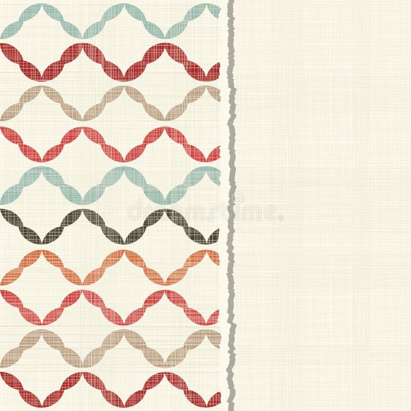 与无缝的乱画五颜六色的抽象样式的卡片 库存例证