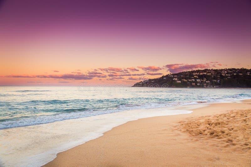 与日落海景的平安的场面在澳大利亚 库存图片