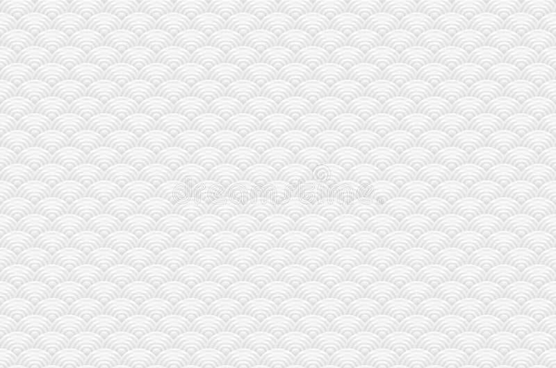 与日语的中国灰色无缝的样式龙鱼鳞简单的无缝的样式自然背景挥动圈子样式vecto 向量例证
