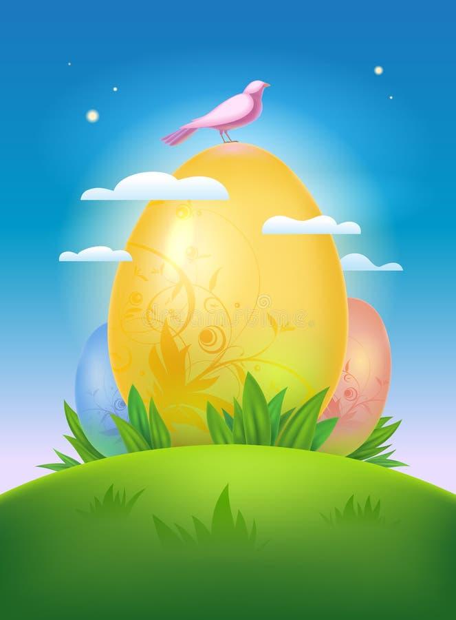 愉快的复活节设计。 皇族释放例证