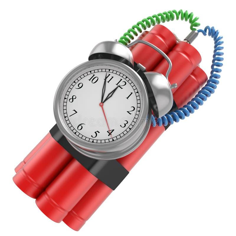 与时钟定时器的炸弹 皇族释放例证