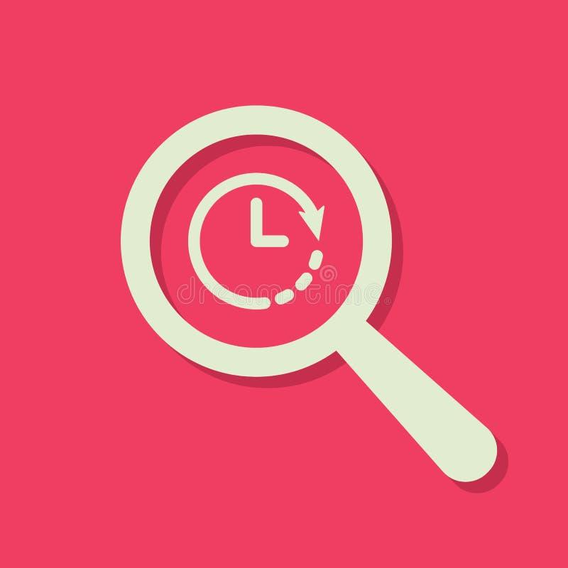与时钟标志的查寻象 搜寻象和读秒,最后期限,日程表,计划概念 皇族释放例证
