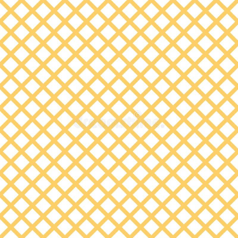 与时髦时髦的细胞方格花布的无缝的样式在夏天黄色颜色 库存例证