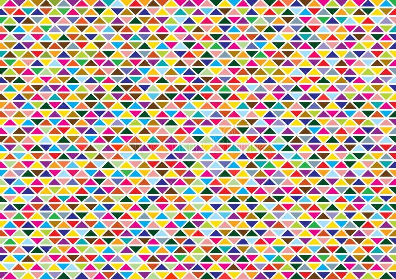 与明亮的三角的抽象背景 向量例证