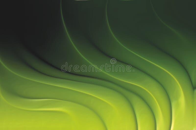 与明亮的梯度和迷离作用的绿色波浪背景 库存例证