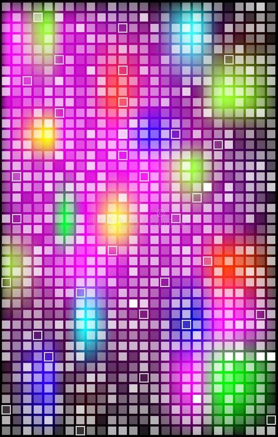 与明亮的正方形的抽象背景 皇族释放例证