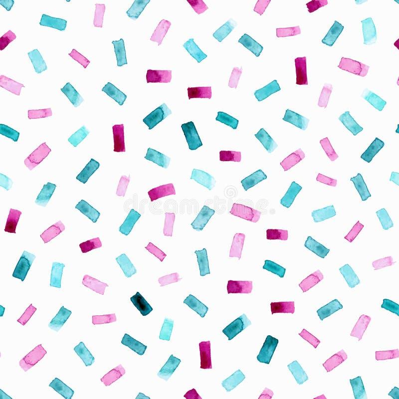 与明亮的水彩长方形的抽象样式 向量背景 皇族释放例证