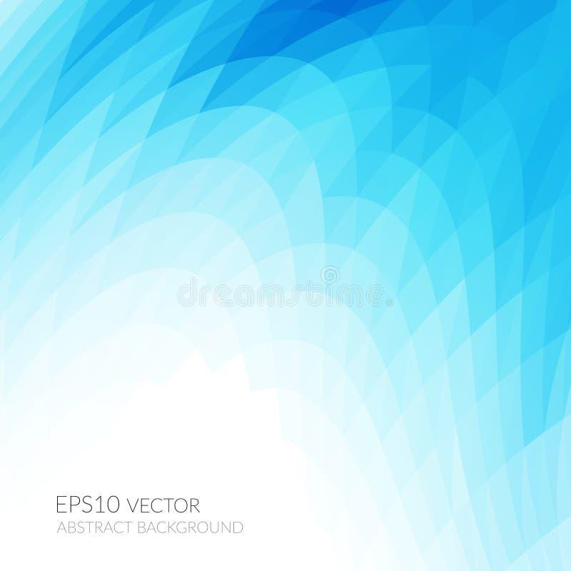 与明亮的蓝色波浪形状的抽象背景 几何形状的光滑的曲线 皇族释放例证